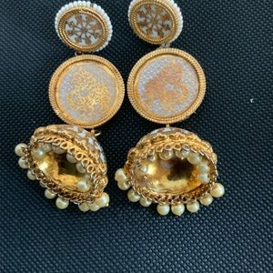 Bollywood Gold plated Design Jhumka India Earring